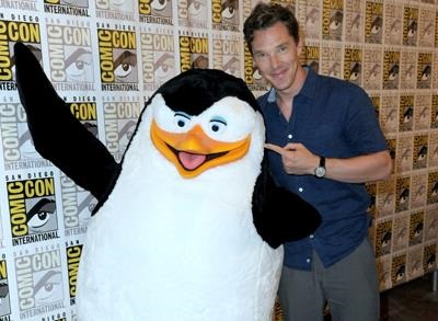 News video: Cumberbatch Brings 'Penguins' to Comic-Con