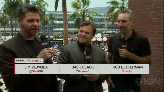 News video: Jack Black and Rob Letterman Talk Goosebumps Movies - Comic Con 2014